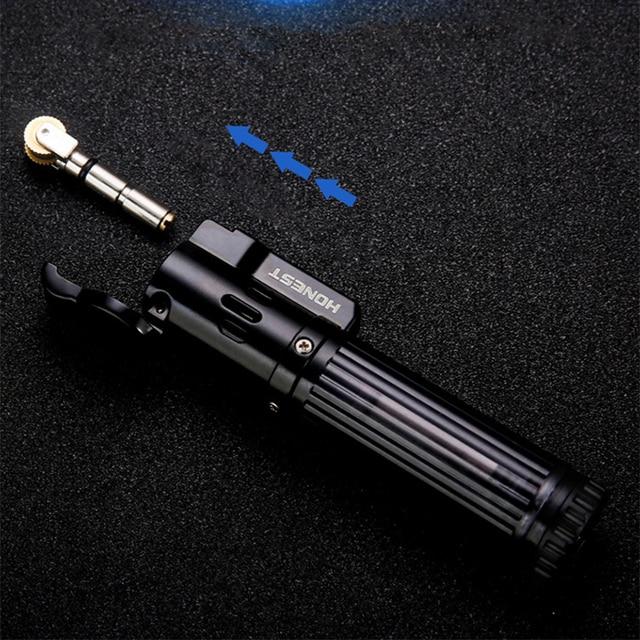 HONEST Gas Lighter Lighters Smoking Accessories Blue Flame Butane Torch Lighter Cigarettes Lighter Gadgets For Men 2020 New 4