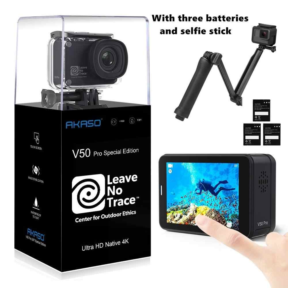 Akaso 2019 Asli V50 Pro SE 4K 60fps Action Camera Built In 4G DDR 2 Inch Layar Sentuh 20MP Sprot Kamera Bawah Air