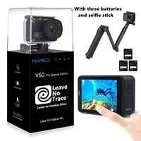 AKASO 2019 oryginalny V50 Pro SE 4K 60fps kamera akcji wbudowany 4G DDR 2 cal ekran dotykowy 20MP Sprot kamery podwodne