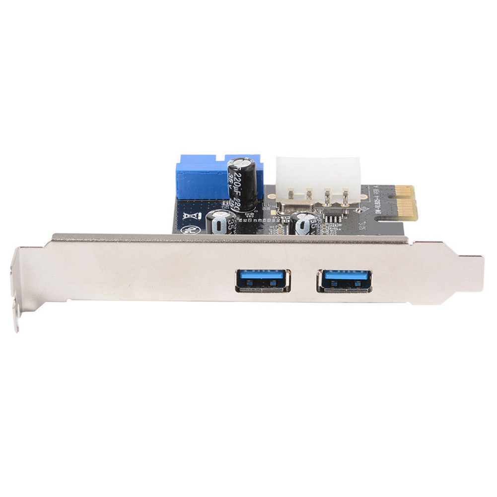 Converter Adapter SuperSpeed External Durable USB 3.0 For PCI-E Power Connector Components 4Pin 2 Port Network Expansion Card