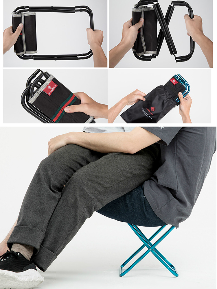 Travel Chair Stool Bench Subway-Train Folding Mare Small Outdoor Ultra-Light Portable