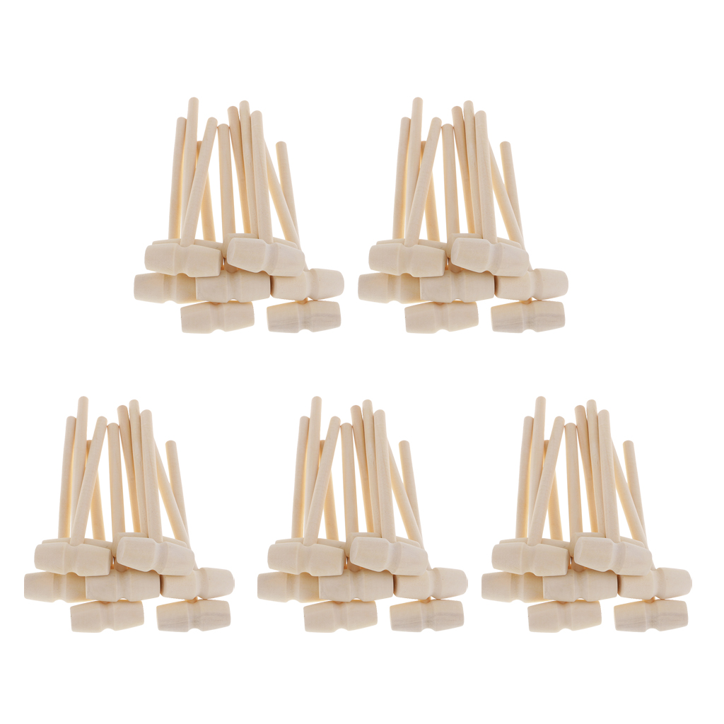 50 Pieces Small Wood Hammer Wooden Mallet Hammer For DIY Woodworking Household Multi Hand Tool