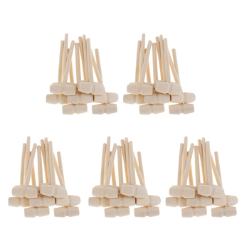 цена на 50 Pieces Small Wood Hammer Wooden Mallet Hammer For DIY Woodworking Household Multi Hand tool