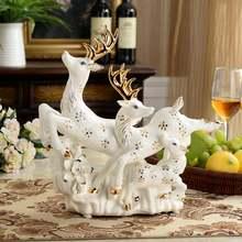 Современные роскошные керамические украшения в виде оленя свадебные
