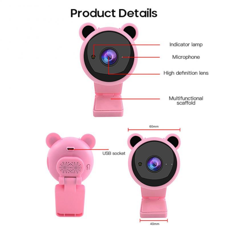 câmera web embutido microfone foco automático webcam