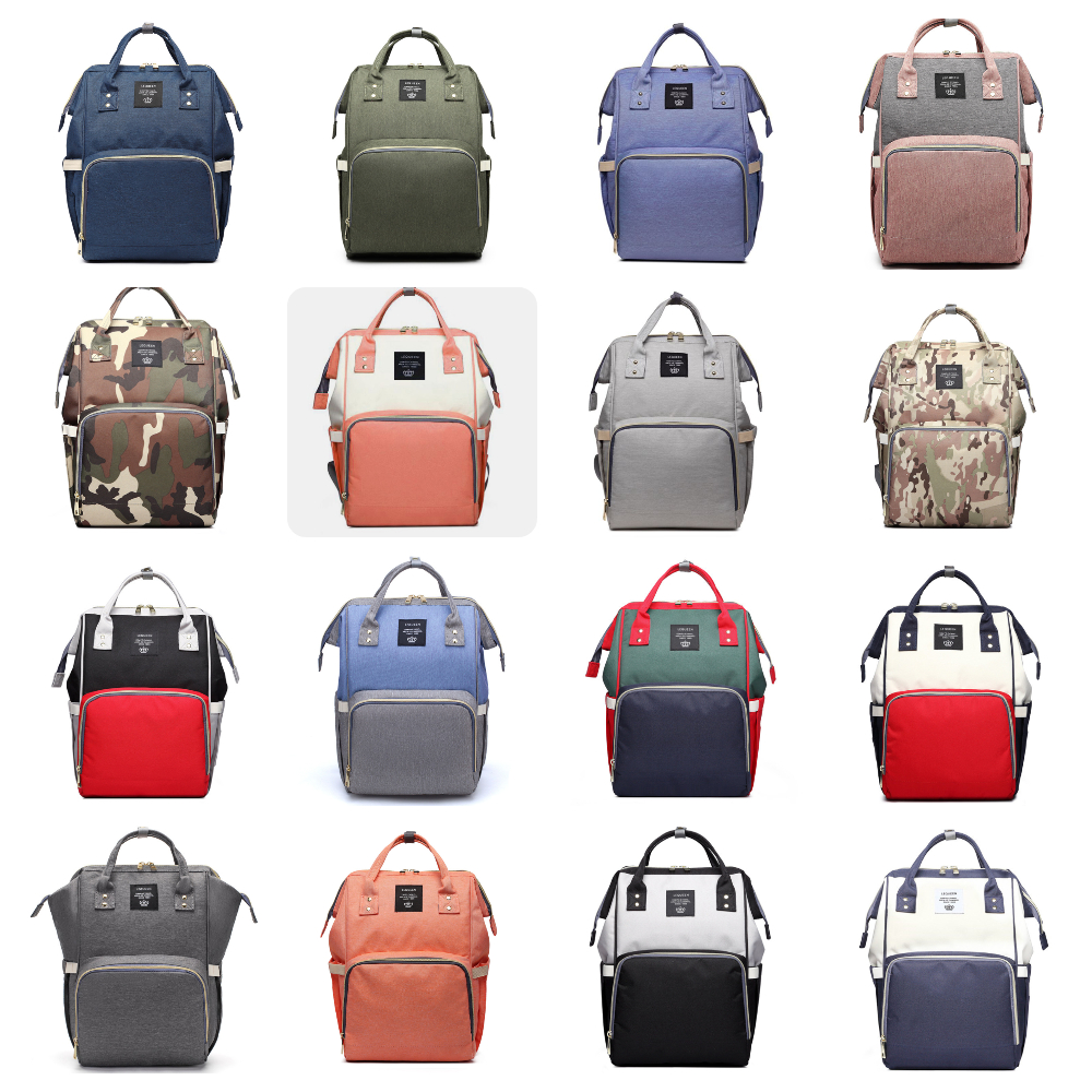 23 Colors Diaper Bag Women Multifunction Backpack Large Capacity Diaper Bag  Waterproof Handbag Mommy Bag Pregnant Baby Care