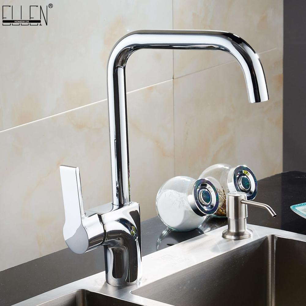 Kitchen Faucet 360 Degree Rotation Single Handle For Kitchen Sink Mixer Tap Copper Chrome Finish