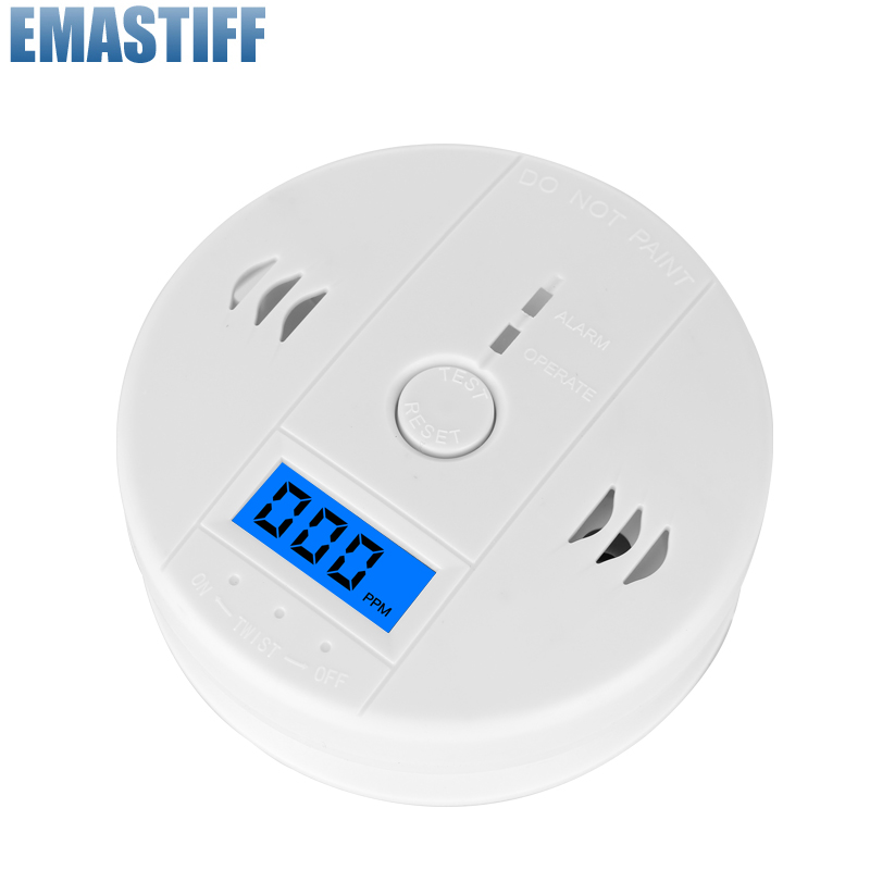 free shipping!LCD CO Sensor Work alone Built-in 85dB siren sound Independent Carbon Monoxide Poisoning Warning Alarm Detector