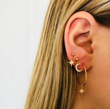 Women Girls Earrings Set Beach Retro Earrings Sexy Glamour Party Jewelry Summer Cute Various Styles Gold Silver 2
