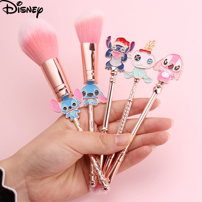 2020 New Fashion Cute Stitch Makeup Brushes Sets Women Blush Eyeshadow Cosmetic Beauty Make Up Brush Toys For Girl Birthday Gift