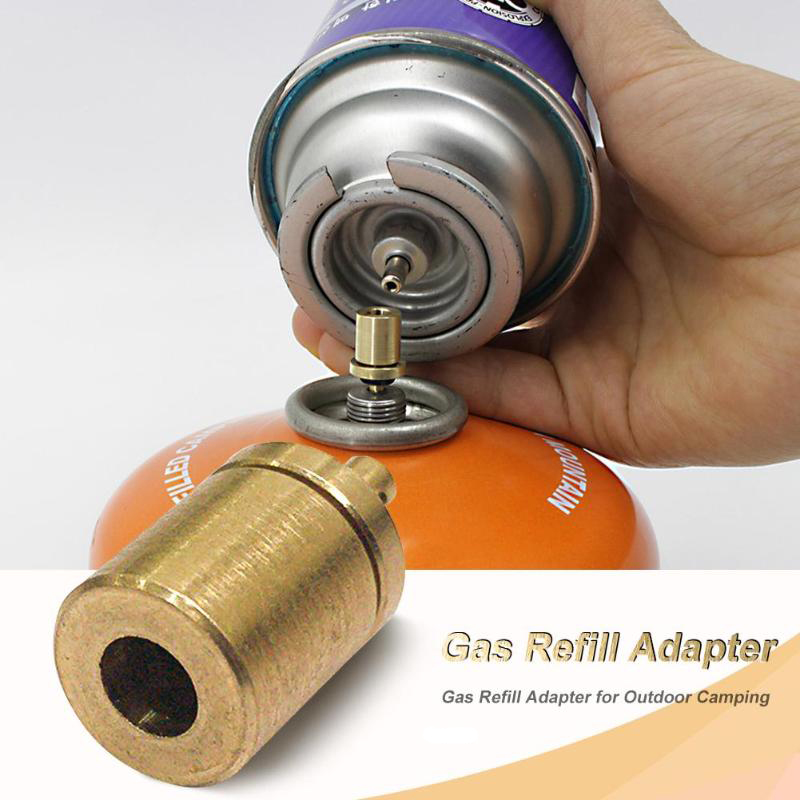Hiking Inflate Butane Canister Gas Refill Adapter Outdoor Camping Stove Gas Cylinder Gas Tank Gas Burner Accessories