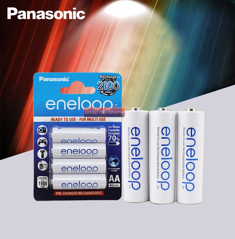4pc Panasonic Eneloop 100% Original AA Rechargeable Battery 1.2v 1900mAh Pre-charged Ni-MH Batteries For Camera Flash/Toys