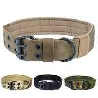 Collier de chien tactique militaire K9 travail collier en Nylon Durable formation en plein air colliers de chien pour petits grands chiens produits pour animaux de compagnie
