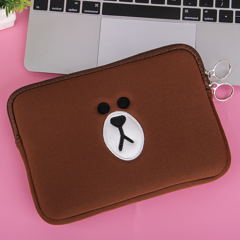 Cute Brown Bear Cartoon Bag11 13 15.6 Inch For Macbook Air Pro 11 13 15 Laptop Bag Tablet Case Computer Sleeve Computer Pocket