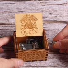 HOT Antique Carved Wooden Hand Crank Queen Music Box Game of Thrones My Mum Music Box Christmas Birthday Gift(China)