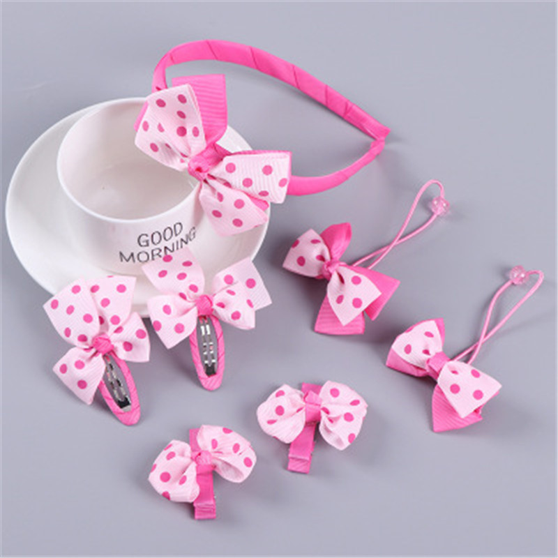 Bow Hairpin Children'S Headband Korean Version Of The New Set Baby Hair Accessories