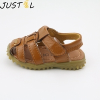 JUSTSL new summer children's shoes boy non-slip soft leather sandals kids casual comfortable sandals