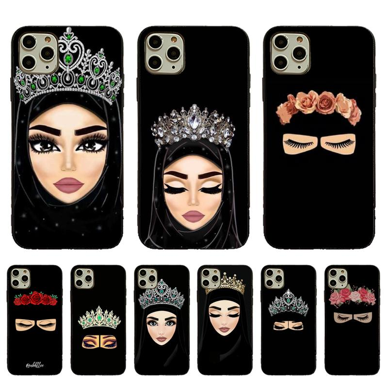 Woman In Hijab Face Muslim Islamic Soft Rubber Phone Cover For iPhone 11pro MAX 8 7 6 6S Plus X XS MAX 5 5S SE XR Fundas Capa