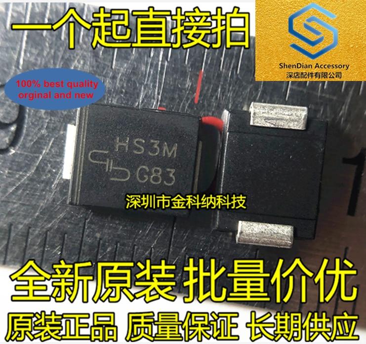 30pcs 100% Orginal New HS3M High Efficiency Rectifier Diode 3A --- 1000V SMD SMC DO-214AB Real Photo