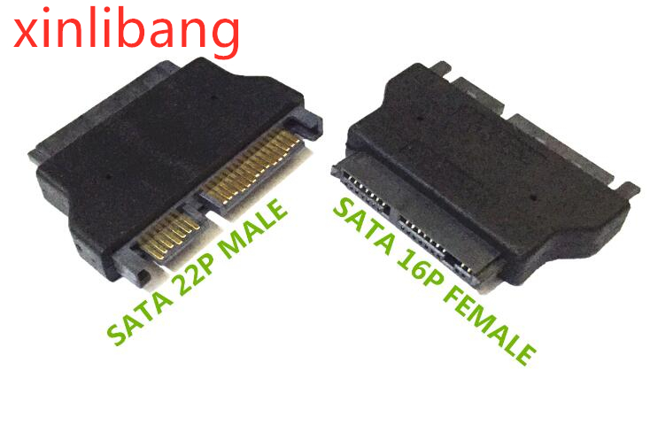 SATA 22P-MICS16C ADP.SATA7+15PIN PCB SIDE/MICRO SATA 7+7+2 CABLE SIDE
