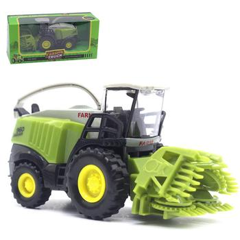 Mini 1/43 Agricultural Harvester Model Children Kids Alloy Car Toy Birthday Gift Forklift Road Roller Car Set Gift Boys image