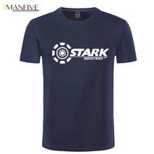 IMANFIVE STARK INDUSTRIES TONY IRON MAN T-shirts Summer Brand 100% Cotton T Shirt Fitness Casual Short Sleeve Camisas Tops