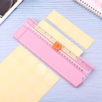 Mini A4 A5 Paper Cutter Cutting Card Trimmer Ruler Blade Mat Scrapbook School Office Kids Safety Label Art Photo Portable Mini 1