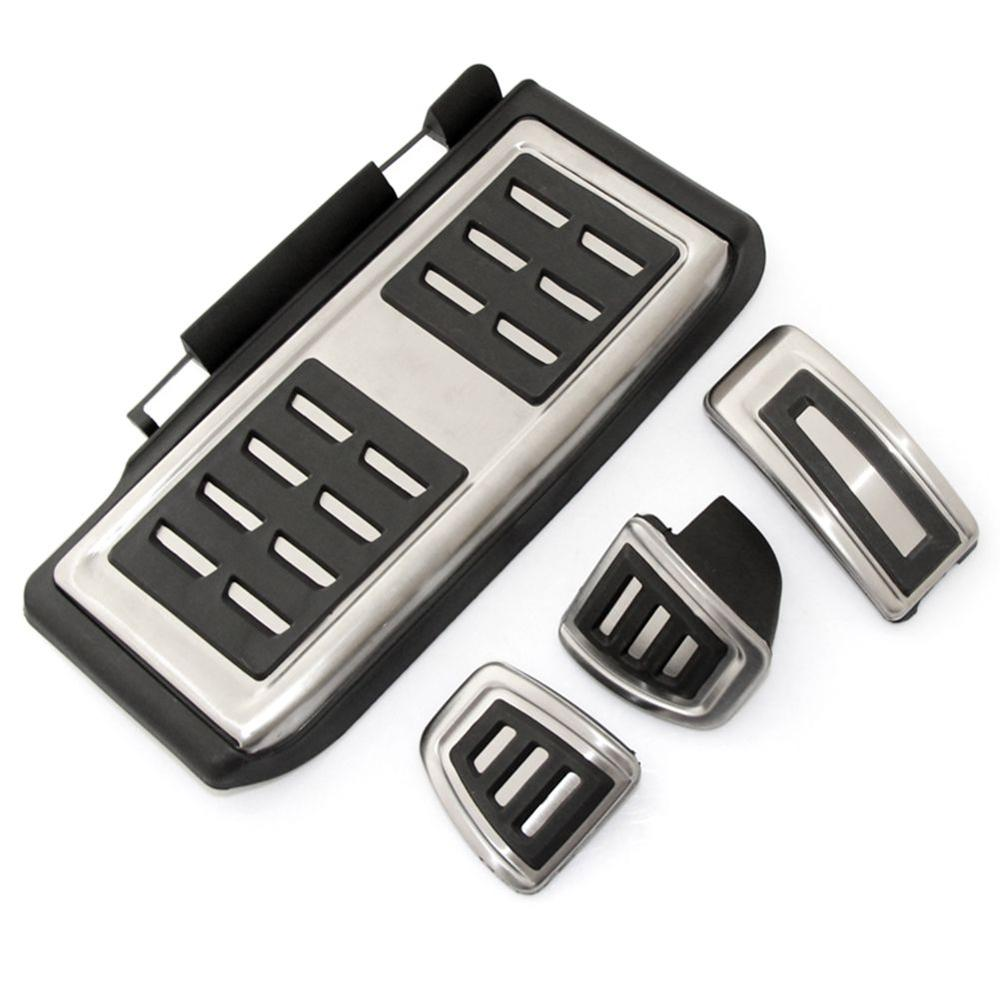 Car Pedal Pad Foot Gas Brake Rest Pedals Plate Cover For Volkswagen <font><b>VW</b></font> <font><b>Golf</b></font> <font><b>7</b></font> MK7 <font><b>GTI</b></font> Skoda Octavia A7 Rapid image