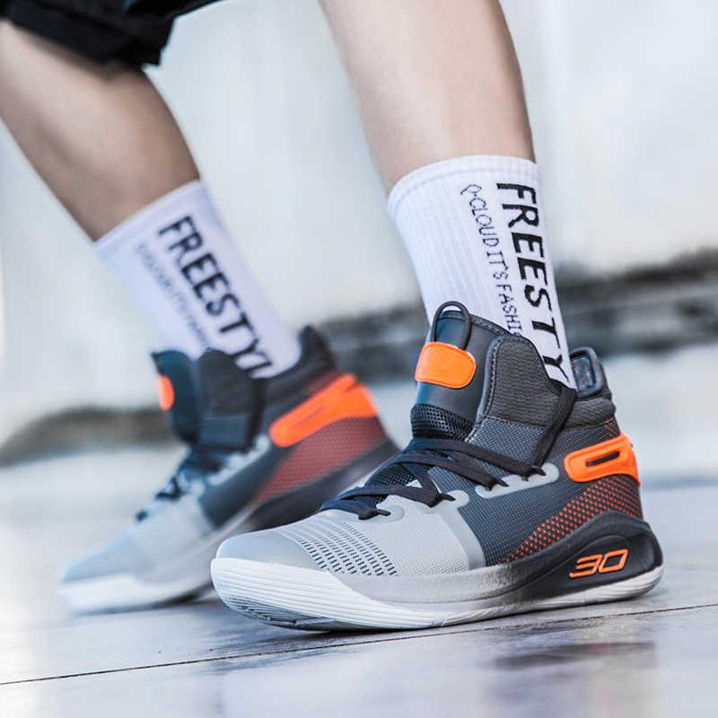 2020สไตล์ใหม่รองเท้าบาสเก็ตบอลAnti-Slip Professionalผู้ชายผู้หญิงรองเท้าผ้าใบBreathable Outdoor Trainerรองเท้าผ้าใบคู่
