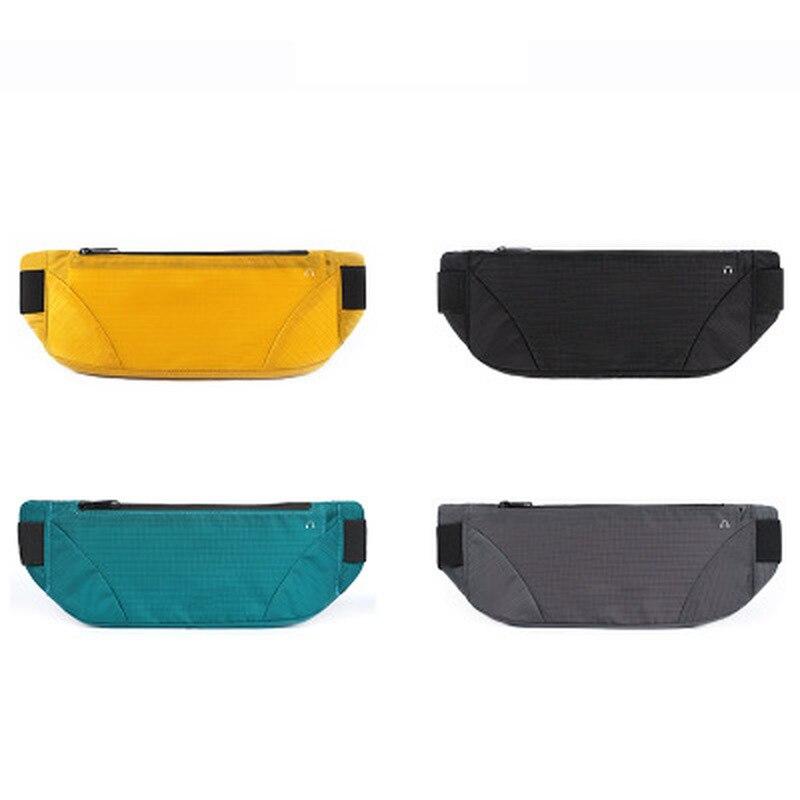 Sac de taille coloré imperméable à l'eau taille Bum sac course Jogging ceinture pochette Zip Fanny Pack Sport coureur sacs à bandoulière pour les femmes