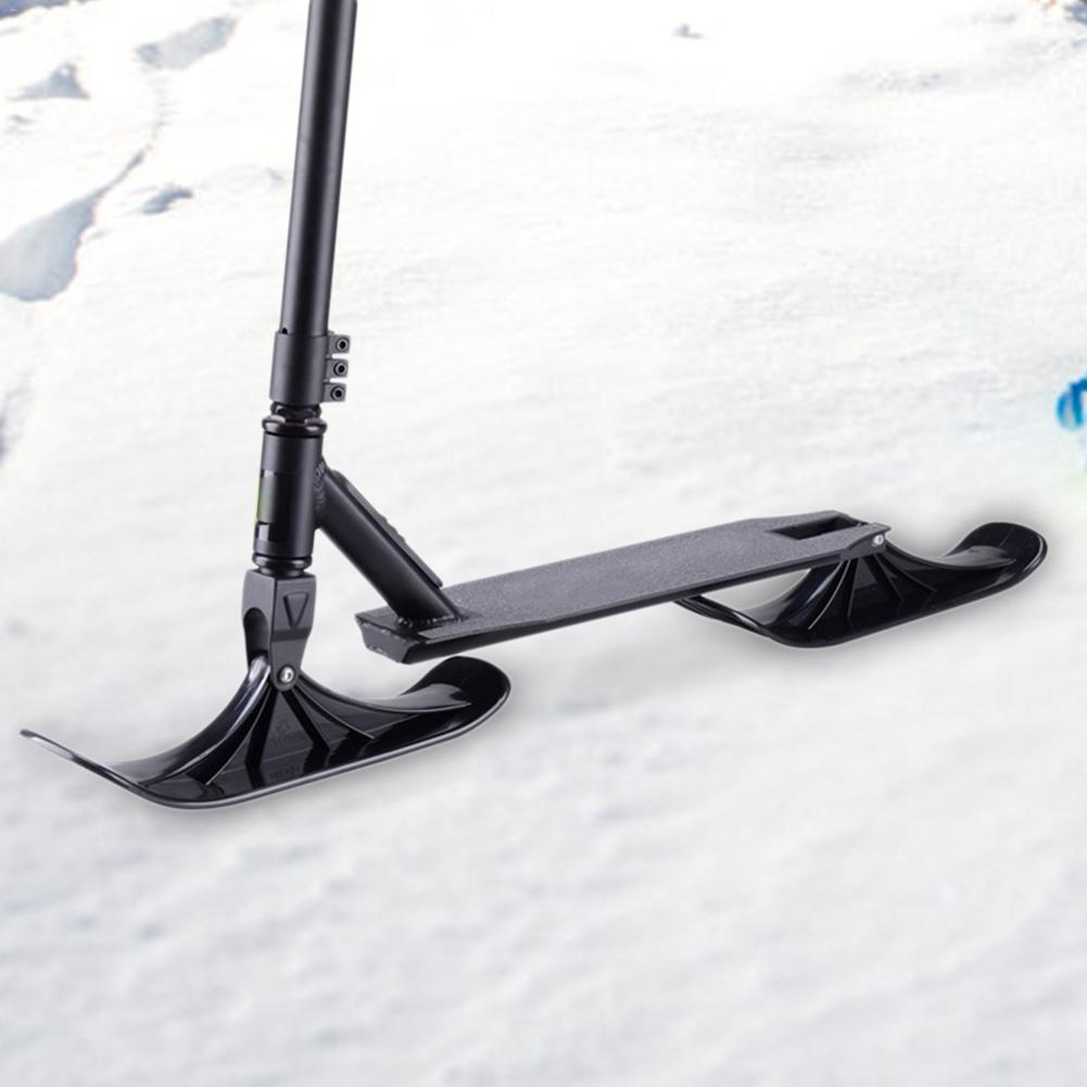 One Pair Of Ski Sleigh  Snow Scooter Ski Kids Skate Board Sled Scooter Winter Cycling Universal  Sled Skiing Board   Winter Ente