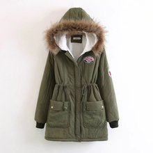 Military Fashion Thick Warm Winter Jacket Women Hooded Full Sleeve Pocket Flocking Fur Parkas Mujer Casual Long Coats Female