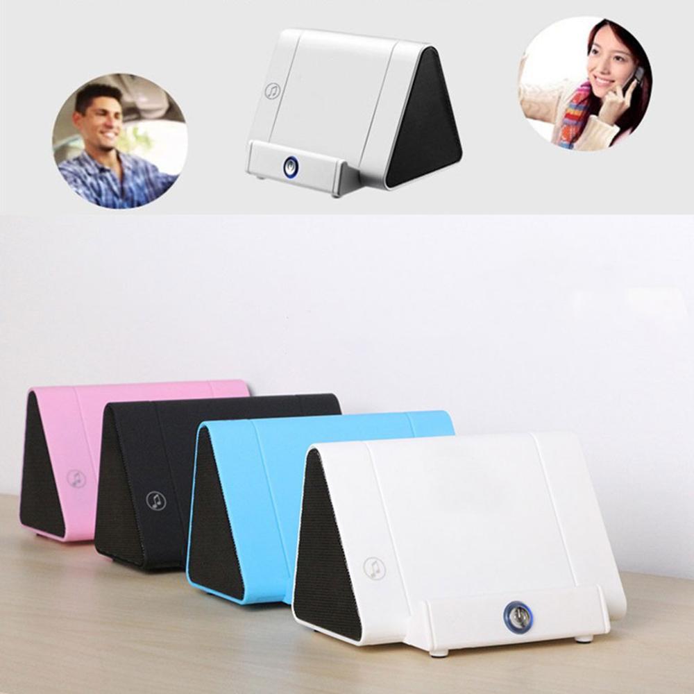 Portable Wireless Induction Speaker Auto-sensing Speakers Mobile Phone Stand Mini Sound Box Audio Sensors Super Bass Loudspeaker
