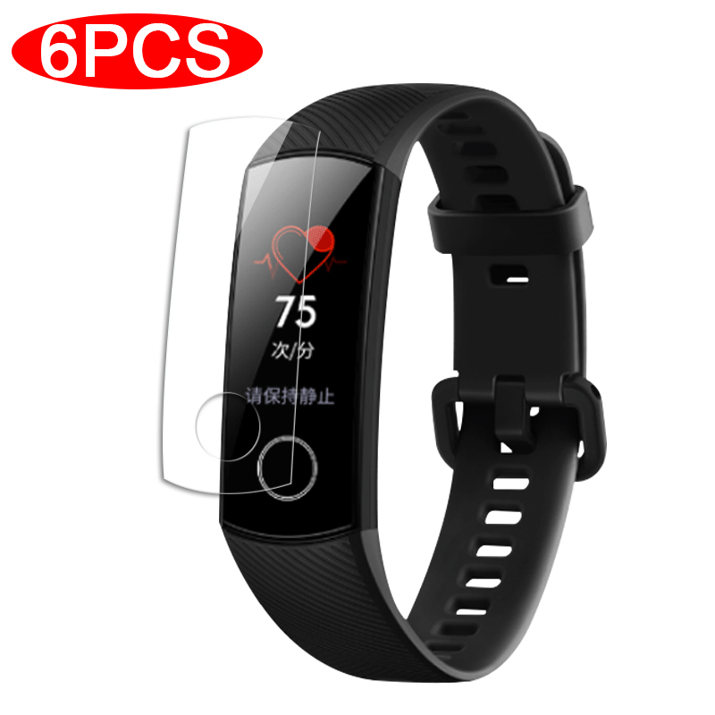 6pcs/lot Full Screen Protector For Huawei Honor Band 4 5 Protective Film On The Honor Band4 Band5 Soft Film Not Tempered Glass