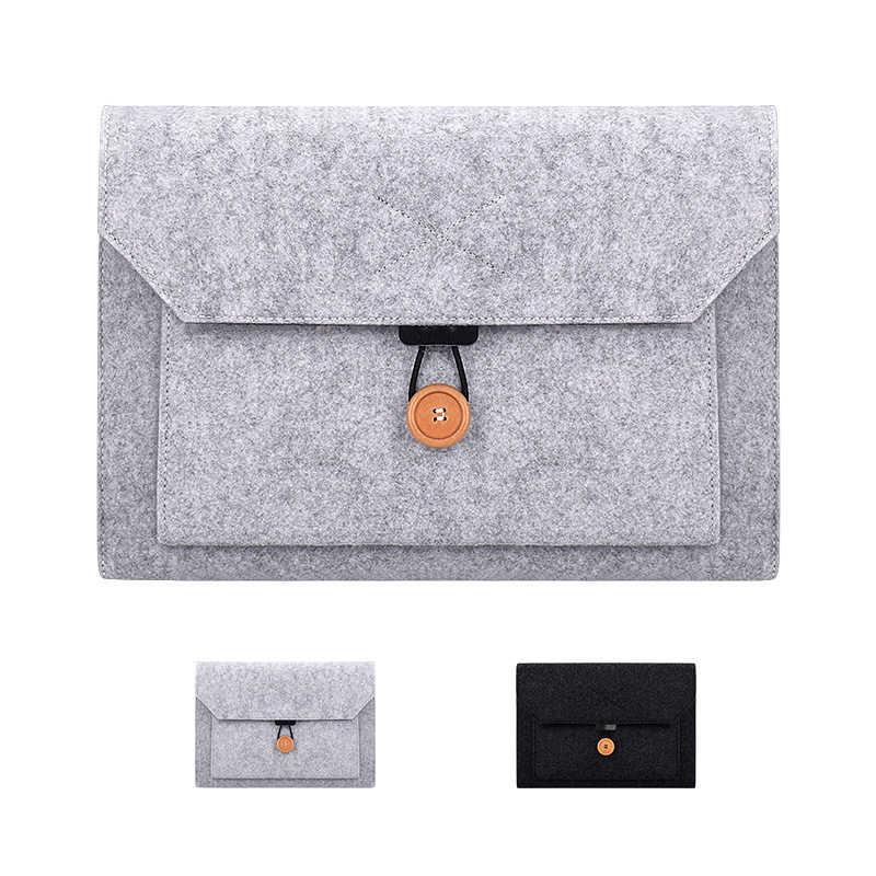 Шерстяной фетровый карман для ноутбука сумка чехол для lenovo Xiaomi MacBook Air Pro retina 11 12 13 15 Asus hp мягкий чехол для ноутбука сумка