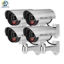 4 pces impermeável falso câmera manequim ao ar livre indoor bala segurança cctv câmera de vigilância