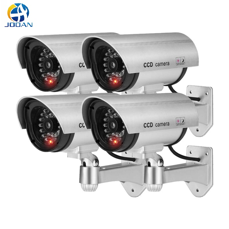 4pcs Waterproof Fake Camera Dummy Outdoor Indoor Bullet Security CCTV Surveillance Camera