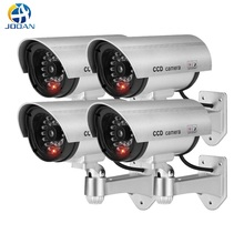 4pcs Waterproof Fake Camera Dummy Outdoor Indoor Bullet Security CCTV Surveillance Camera