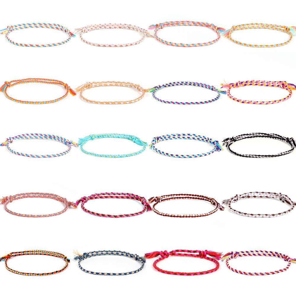 Meetvii Lucky Tibetaanse String Armbanden & Armbanden Voor Vrouwen Mannen Handgemaakte Kwastje Knopen Draad Touw Armband Etnische Sieraden