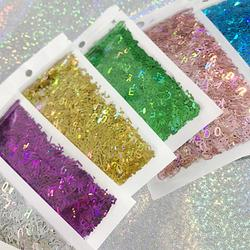 Holographic Alphabet Glitters DIY Jewelry Craft Shaker Fillings Letter Sequins Phone Case Decor Accessories Cosmetic Art Glitter