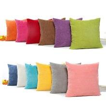 Housse de coussin en velours, couleur unie, décoration de luxe pour la maison, salon, canapé, café