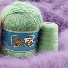 Drop Shipping 50 + 20 g zestaw długi pluszowy norek z kaszmiru przędza dobra jakość ręcznie nici dziewiarskie dla kobiety sweter szalik nadaje się пряжа tanie tanio ZLWXL Mink Cashmere yarn Czesankowej CN (pochodzenie) Inne przędzy