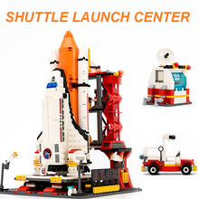 лучшая цена GUDI 8815 Space Series 679Pcs Spaceport Space Model The Shuttle Launch Center Building Block Bricks Compatible Legoings Jugetes