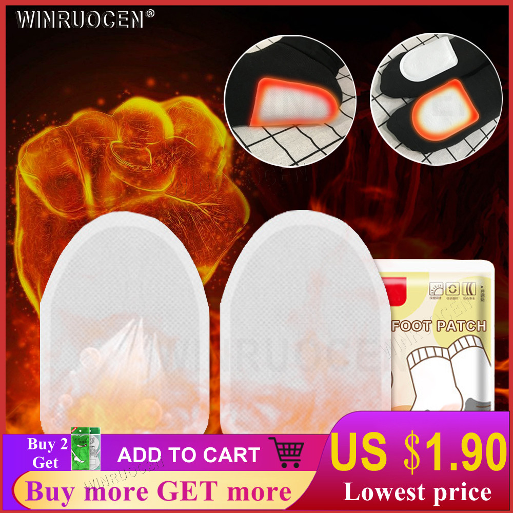 WINRUOCEN Disposable Automatically Winter Heated Insoles Foot Patch Women Men Heating Warm About 48 Degree Shoe Inserts Foot Pad