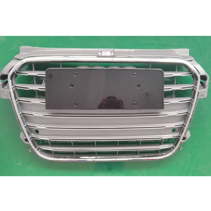 A1 <font><b>S1</b></font> Style Gray Chrome Frame Front Bumper Middle <font><b>Grill</b></font> Grille For <font><b>Audi</b></font> A1 <font><b>S1</b></font> RS1 S Line 2010-2015 image