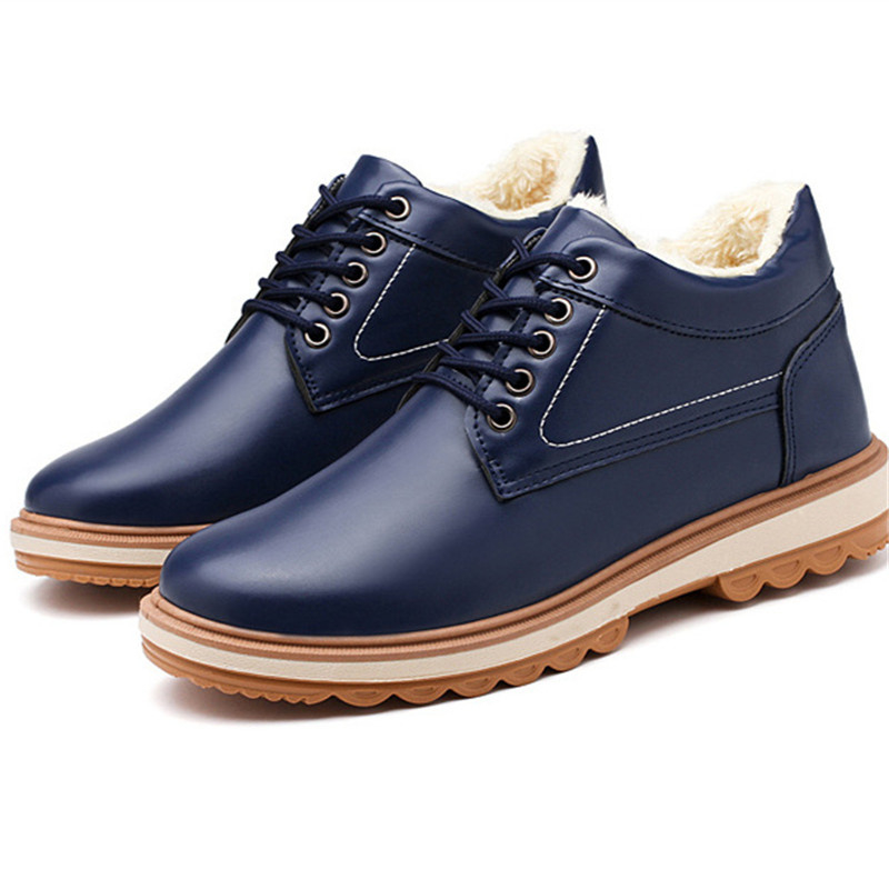 Winter Shoes Army-Boots Sneaker Men Platform High-Top Black Mens Leather New Punk Masculina