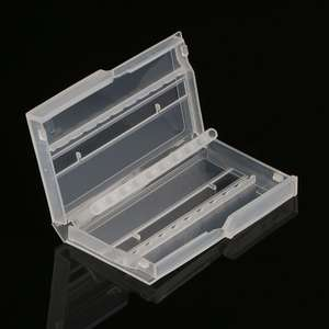 10 Holes Nail Drill Bit Case Plastic Empty Storage Box Milling Cutters Holder