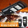 140 Вт 80 Вт Светодиодный уличный фонарь на солнечной батарее с/без пульта дистанционного управления наружный садовый настенный светильник П...