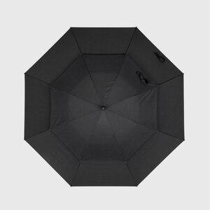 Image 5 - Parachase 135cm Long Handle Umbrella Rain Women Large Wooden Handle Clear Umbrella Business Men Windproof Double Layer Paraguas