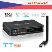 GTMEDIA TT PRO DVB-T2/decodificador de Cable HD Digital TV sintonizador Receptor 1080P + 2 años 5 líneas de apoyo Rusia España Italia CZ señal